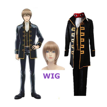 HOT! Japanese Anime Gintama Uniform Satoru Magintamashi Okita Shinsengumi Adult Hijikata Toshiro Halloween Party Cosplay Costume