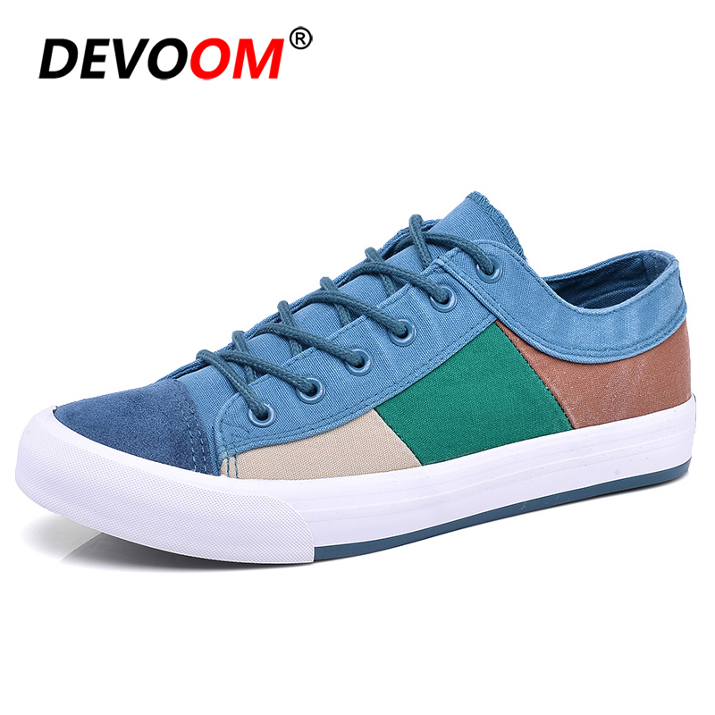 2018 Fashion Quality Vulcanized Shoes Men s Summer Shoes Breathable Canvas Retro Casual Boat Sneakers For Man