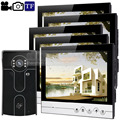 DIYSECUR 9inch Video Record/Photograph Video Door Phone Doorbell Waterproof HD RFID Camera Home Security Intercom System 1V5