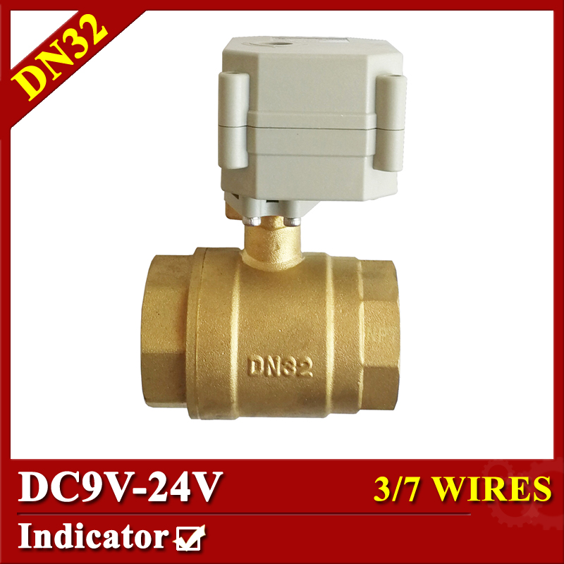 2 Way Electric Ball Valve BSP/NPT 11/4'' Brass DN32 Automated Ball Valve With Position Indicator Metal Gear On/off 5 Sec mini brass ball valve panel mountable 450psi with lever handle chrome plated malexfemale npt