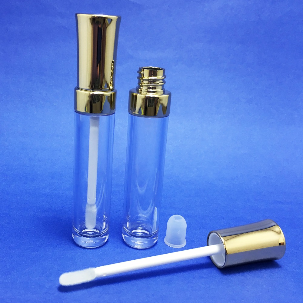 2 PCS Empty Clear Lip Gloss Concealer Container Tube With Wand & Doe-foot 7.5g (C336) image