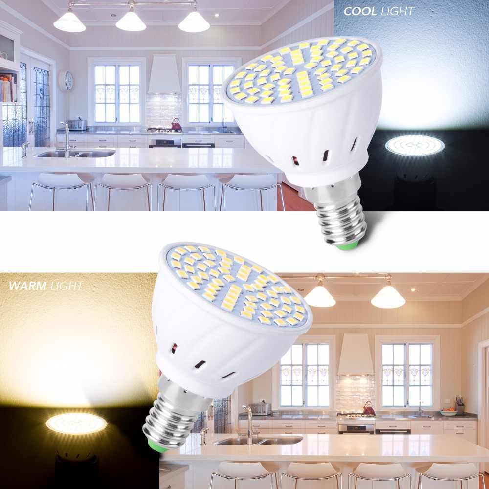 GU10 LED E27 lámpara E14 bombilla de foco 48 60 80led lampara 220V GU 10 bombillas LED MR16 gu5.3 bombilla de luz B22 5W 7W 9W