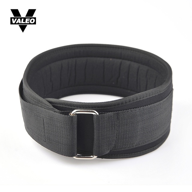 VALEO Nylon Exercise Weightlifting Belt Gym Fitness Waist Squat Training Dumbbell Barbell Lifting Dip Powerlifting Gym Equipment