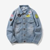 Men's Tops Large Size Man Vintage Jean Jacket Streetwear Chaqueta Hombre Japanese Casual Denim Jacket Men's Denim Jacket