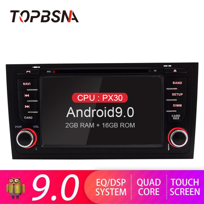 TOPBSNA 2 Din <font><b>Android</b></font> 9.0 Car Multimedia Player For <font><b>AUDI</b></font> <font><b>A6</b></font> S6 RS6 GPS Navigation Radio Video Audio headunit Mirror-link Stereo image