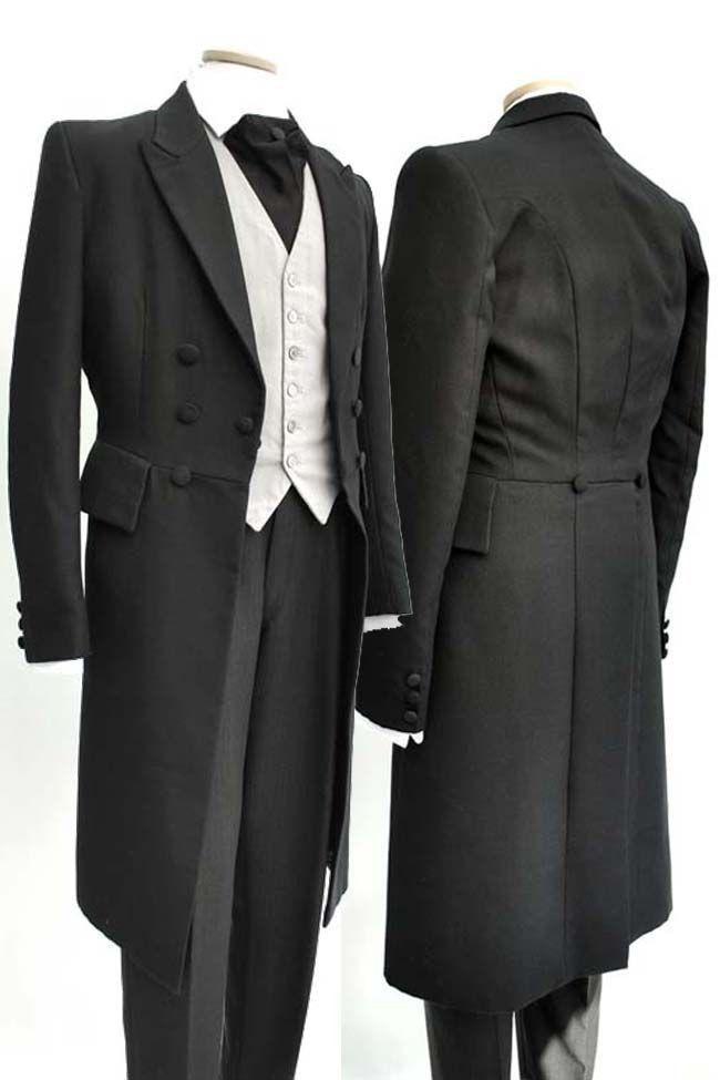 블랙 남자 웨딩 tailcoat 신랑 턱시도 groomsmen 정장 더블 브레스트 남자 정장 c183-에서정장부터 남성 의류 의  그룹 1