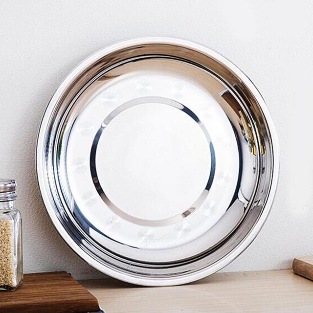 C&ing 16-28cm Dia Stainless Steel Tableware Dinner Plate Food Container & Camping 16 28cm Dia Stainless Steel Tableware Dinner Plate Food ...