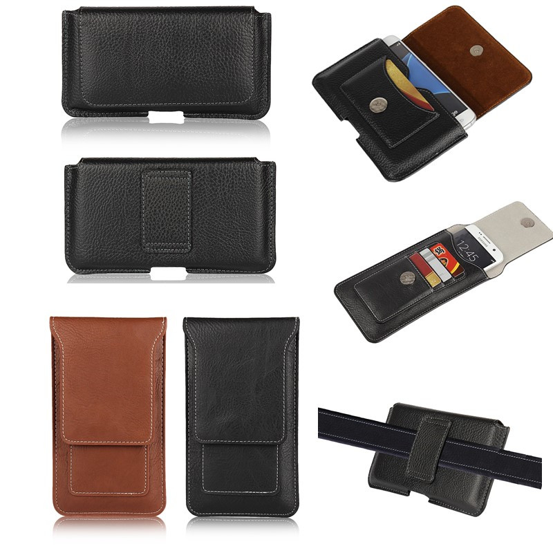 Holster Case For Sony Xperia Z5 Z5 Compact Belt Clip Leather Pouch  Universal Bag Cover Phone Coque Etui For Sony Z5 Premium Capa 4138aa3cbf