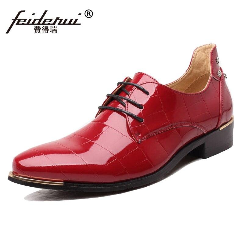 b69a6c12f Italiano Tamanho Fino vermelho Designer Bico Grande Homem Up Casamento  Cms94 Studded Calçado 37 Homens Derby Couro Sapatos Sapato ...