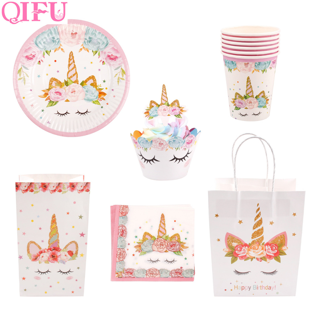 QIFU Unicorn Party Set Gifts For Birthday Party