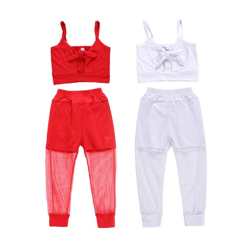 Mode Peuter Kinderen Baby Meisjes Kleding Vest Top Lange Mesh Broek Outfit Zomer Kinderen Meisjes Sport Running Sets Een Grote Verscheidenheid Aan Modellen