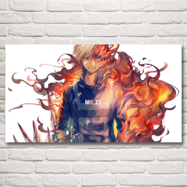 Boku no Hero Academia Fabric Poster 1×20 16×29 20×36 Inch