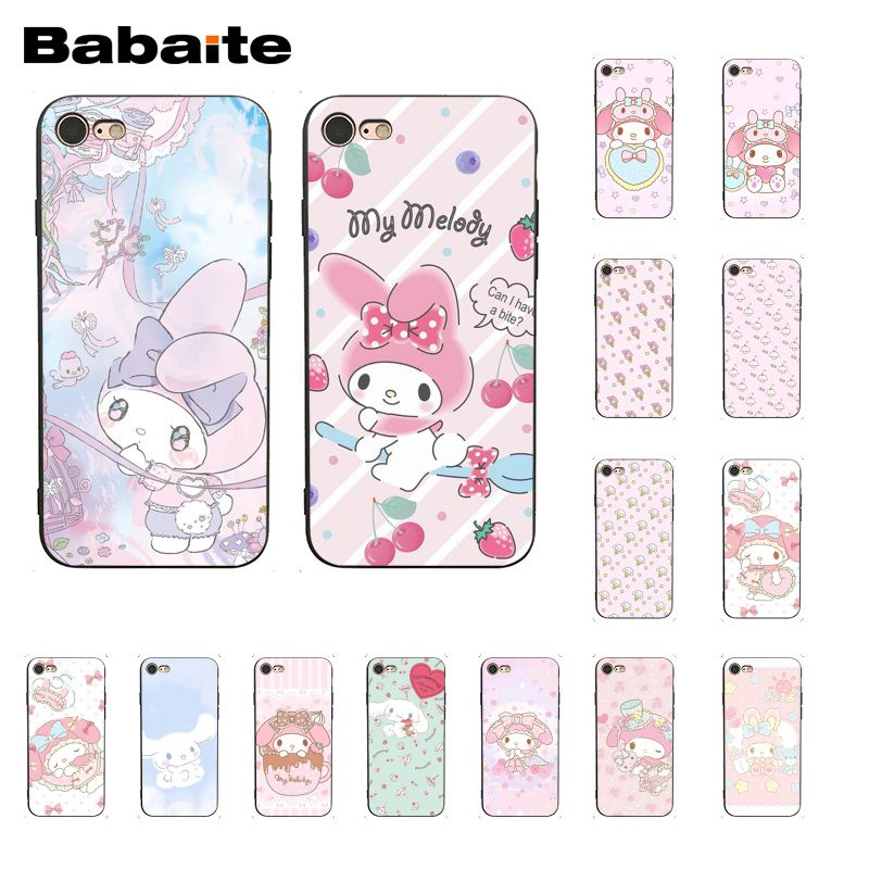 Babaite My Melody <font><b>PhoneCase</b></font> for <font><b>iphone</b></font> 11 Pro 11Pro Max 6S 6plus 7 <font><b>7plus</b></font> 8 8Plus X Xs MAX 5 5S XR image