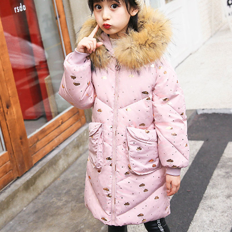 e0c1e556a 2018 Children Winter Jacket Girls Warm Coats With Fur Hooded Baby ...