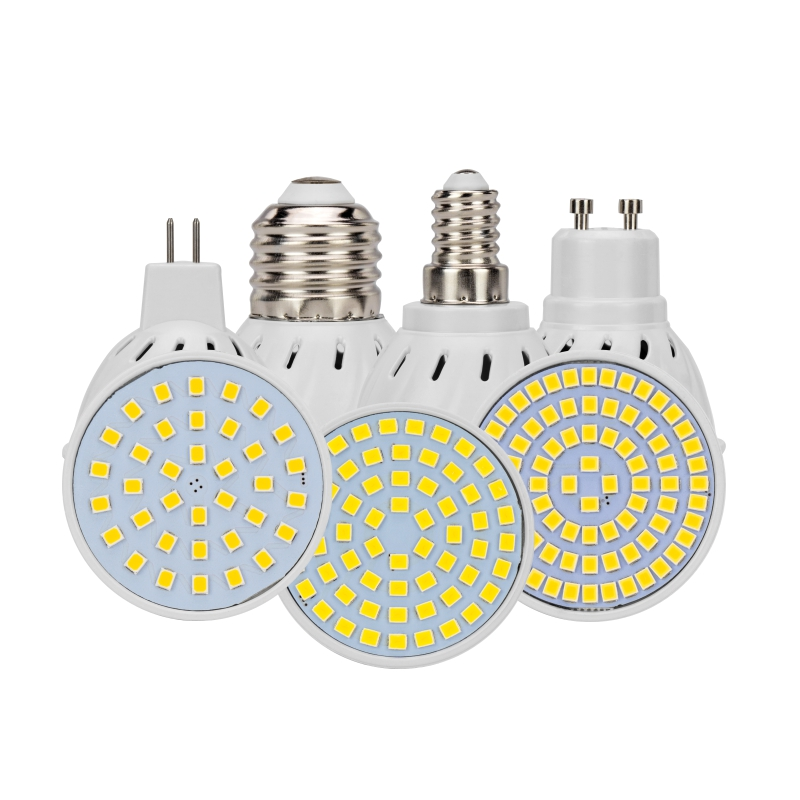 LED Plant Spotlight Bulb AC110V 220V GU10 MR16 E27 E14 Led 36 60 80 Leds SMD Grow Diffusion Light  For Plants Flower Vegetable