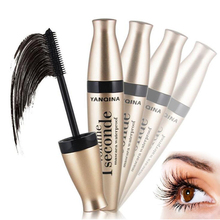 YANQINA 3D Fiber Mascara Black Lash Eyelash Extension Waterproof Eye Makeup 1 seconde volume mascara 131-0267