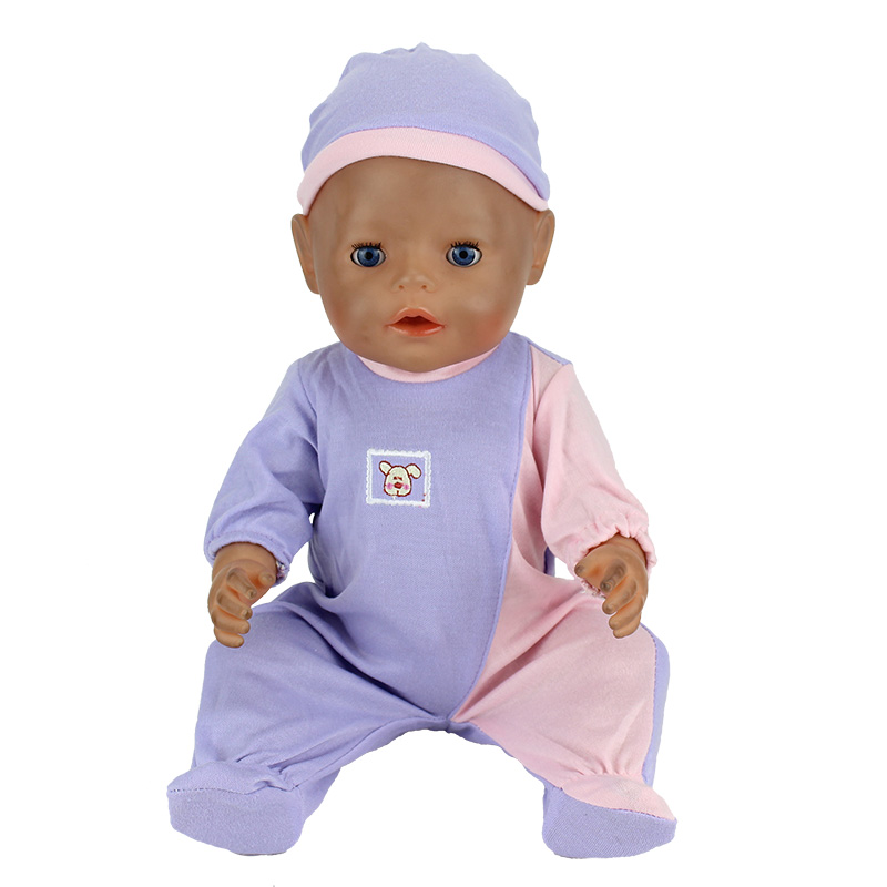 Doll Accessories, Purple Jumpsuit Wear fit 43cm Baby Born zapf, Children best  Birthday Gift(only sell clothes) 2color choose leisure dress doll clothes wear fit 43cm baby born zapf children best birthday gift only sell clothes