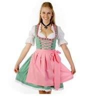New Oktoberfest Beer Festival October Dirndl Skirt Dress Apron Blouse Gown Costume Girls Women Fancy Dress