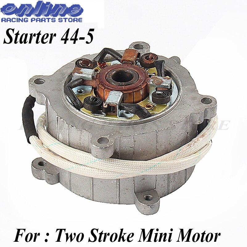 Démarreur électrique pour 2 course moteur 49cc pocket bike mini dirt bike mini ATV 49cc Moto Moteur 44-5 démarreur électrique