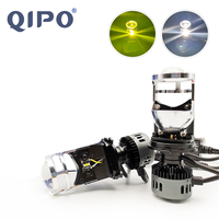 QIPO Car Lights H4 LED Headlight motorcycle lamp 3000K 6500K White Yellow mini projector lens Automoblies Bulb Hi/Lo Beam 12V