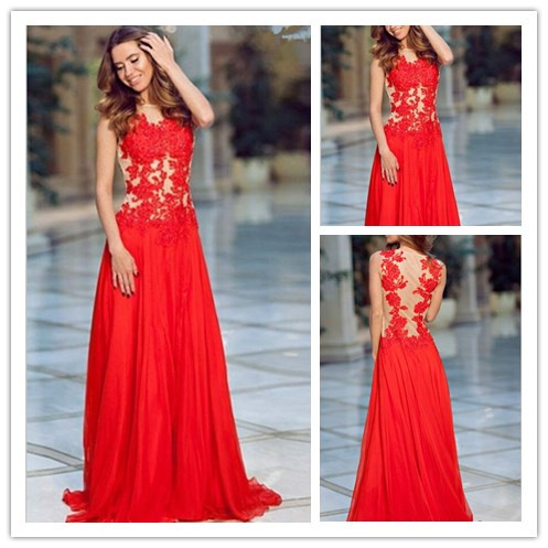 Aliexpress.com : Buy Sexy 2015 Red Long Prom Dresses Form Fitting ...