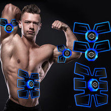 EMS Massager Smart Fitness Abdominal Training Machine Muscle Stimulator Fat Burner Body Slimming Belt USB Rechargeable