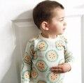 1-5 Años Del Bebé Muchachas de Los Muchachos Del Niño Del Suéter de Otoño Invierno Suéteres Patrón de La Sandía Niños Trajes Bebé Kintted Jerseys