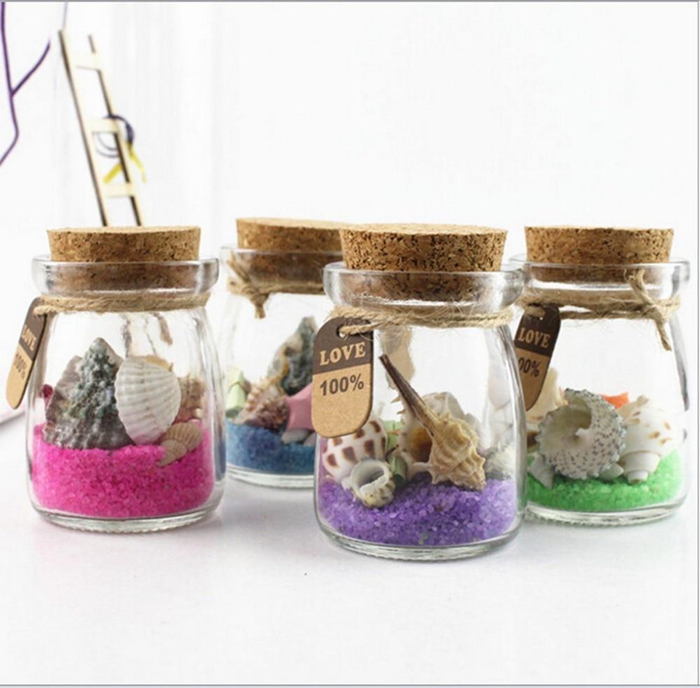 Cute Conch Sea Sand Shell Mini Clear Cork Stopper Gift