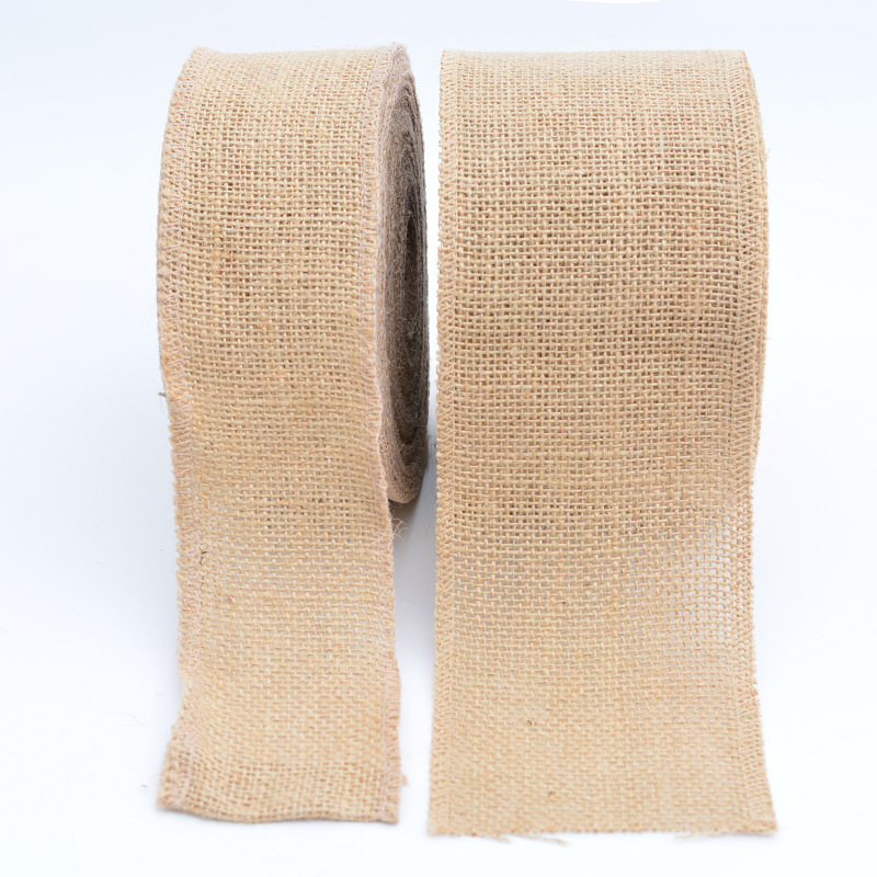 Natural Jute Burlap Ribbons DIY Crafts Fabric Rustic Wedding Birthday Party Christmas Decoration Gift Wrapping Hessian Tape(China)