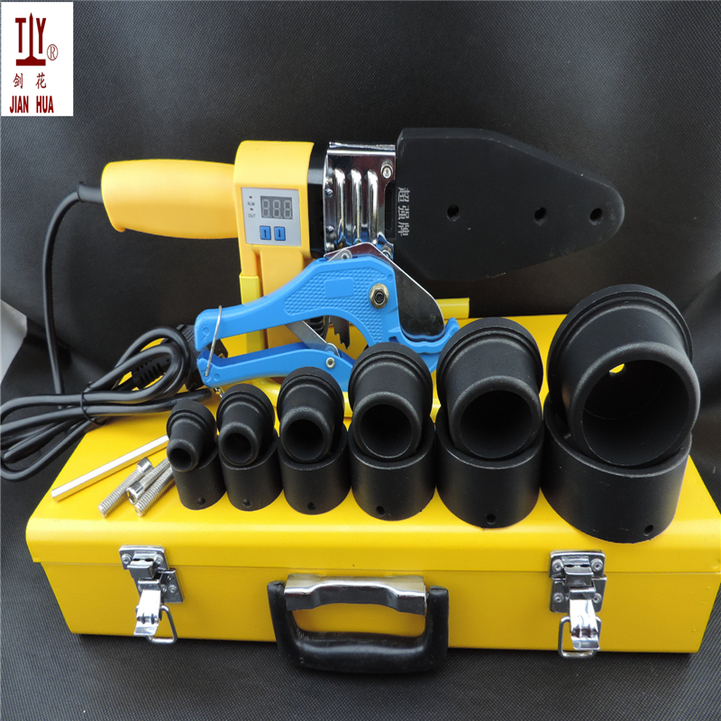 New 20-63mm US Plug 110V plastic welder Microcomputer digital display fuser pvc plastic tubing PPR welding machine welder machine plasma cutter welder mask for welder machine