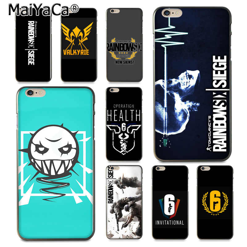 MaiYaCa rainbow six siege Top Detailed Popular soft Phone case for iPhone 8 7 6 6S q50