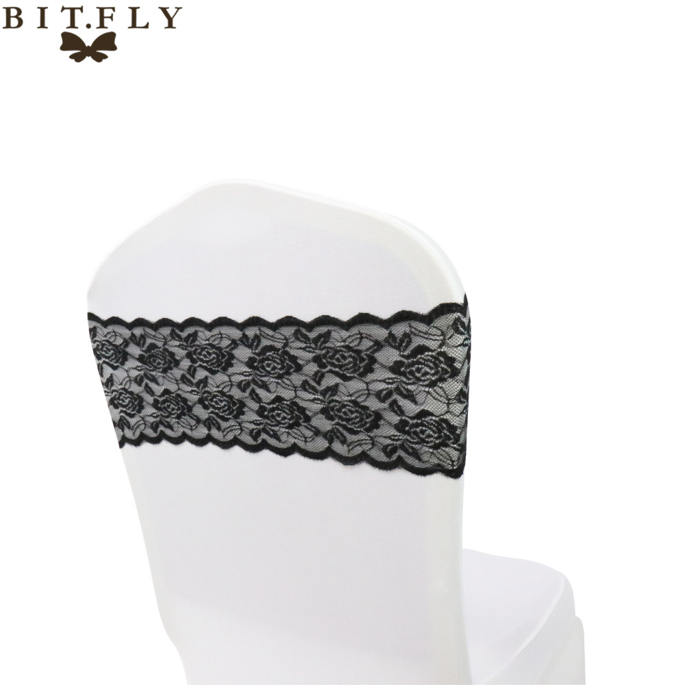 50PCS Lace Chair Bands For Wedding Decorations Banquet Chair Covers Decoration Wholesale Fashion Free Shipping Home