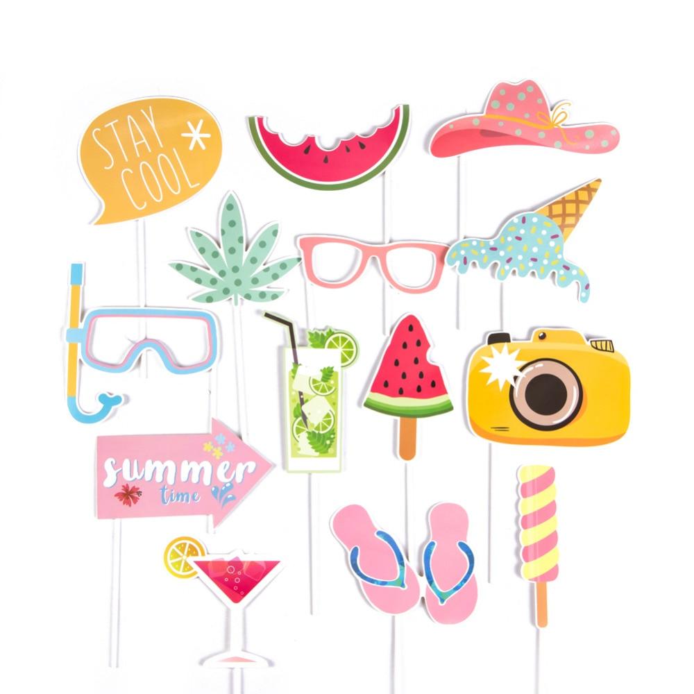 Tropical Luau Hawaiian Birthday Party Decorations Fun Photo Booth Props
