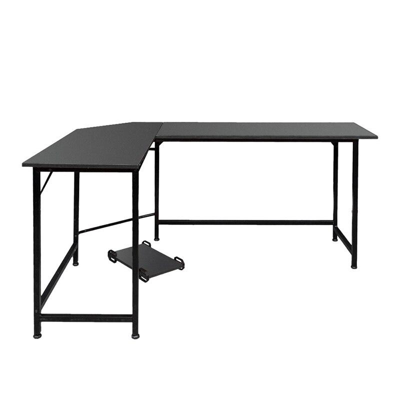 Noir En Forme de L ordinateur de bureau mobilier De Bureau de Bureau - 6