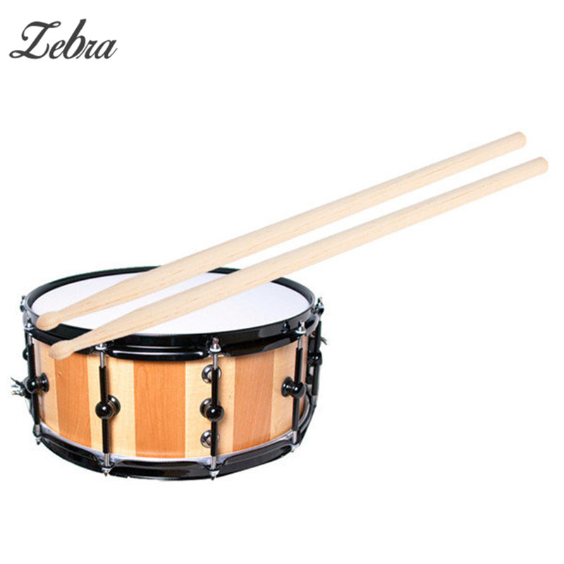 zebra 1 pair maple 5a size maple wood drumsticks stick for drum lightweight wood color drum. Black Bedroom Furniture Sets. Home Design Ideas
