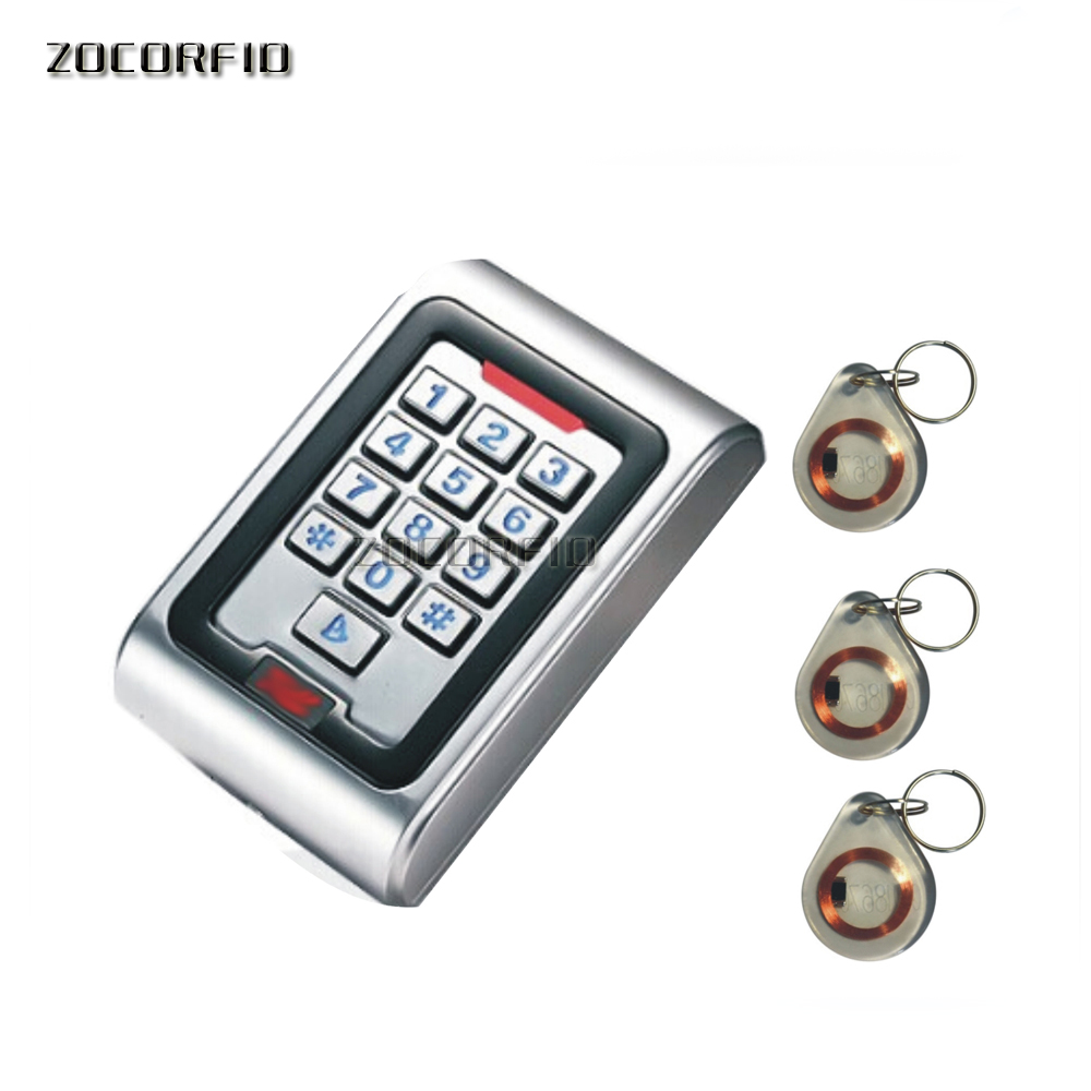 Newest Waterproof metal shell outdoor access controller for password or RFID 125KHZ+ 10 pcs cards