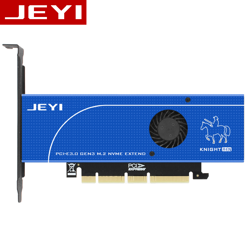 JEYI Blue Knights SK19 M. 2 NVME NGFF SATA 110mm PCIE3.0 Double Disk Extension Adapter Card Pcie3.0 Gen3 Support 110mm Double M2