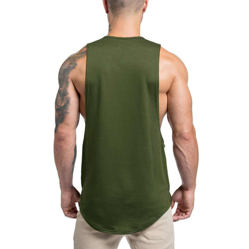 41c95558d6 ... Muscleguys 2019 musculation vest bodybuilding clothing and fitness men  open side undershirt solid tank tops blank ...
