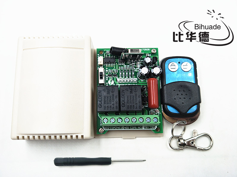 2 channel rf wireless remote control relay switch 220V 315mhz Relay Module Learning Code 1527 Switch With Remote Control
