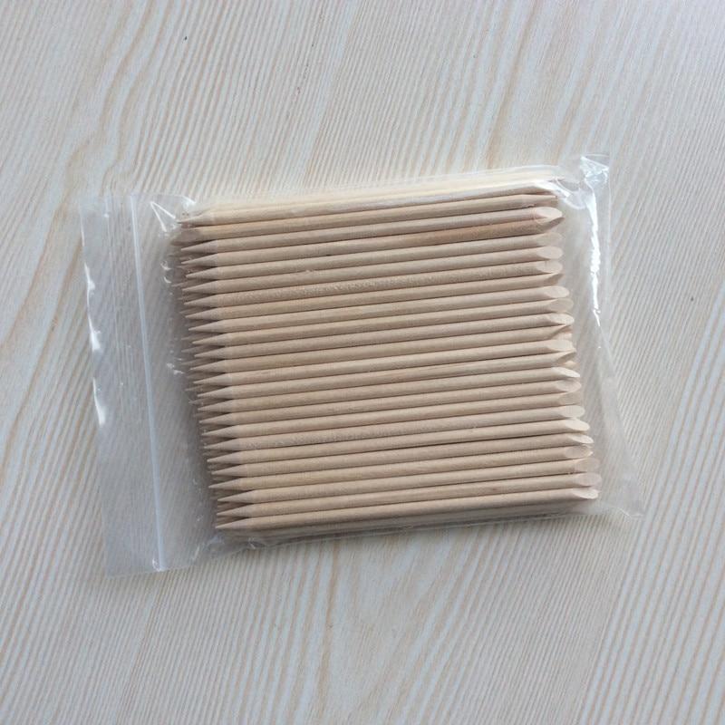 Nützliche Orange Holz Sticks 50 teile / los Nagelhautschieber - Nagel Kunst - Foto 1