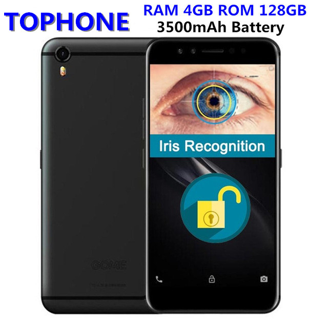 """Original GOME K1 4G LTE Smartphone 4G RAM 128G ROM 5.2"""" 1080P MTK6757 2.3GHz Octa Core Android 6.0 Iris Recognition Mobile Phone"""