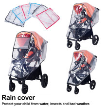 Stroller Accessories Waterproof Rain Cover Transparent Wind Dust Shield Zipper Open For Baby Strollers Pushchairs Raincoat