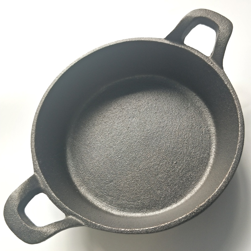 Cast Iron Non-Stick Double Handle Frying Pan 1