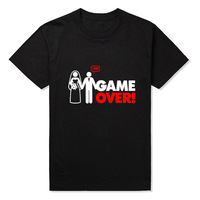 New Summer Style Hip Hop Game Over Logo T Shirts Men Band Man T Shirt Cotton