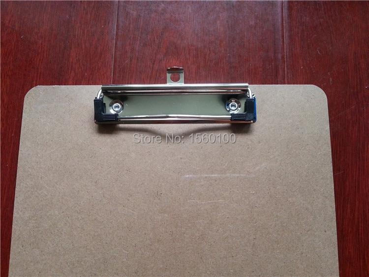 Karšto pardavimo A4 MDF iškarpinės rašymo plokštė Medinis klipas lenta meniu iškarpinė su plokščių klipų biuro reikmenimis