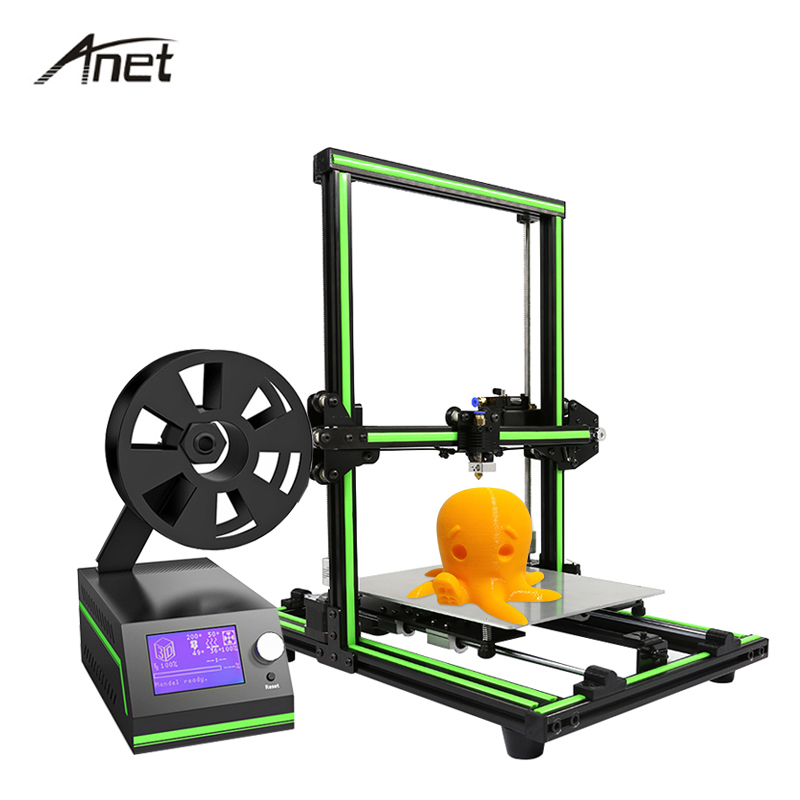 New Anet E10 Impresora 3d High Precision 3D Printer DIY Kit Full Metal Imprimante 3d Off-line Large Print Size With Filament infitary m608 3d printer large printing size imprimante 3d high precise 3d printer kit with 8gb sd card