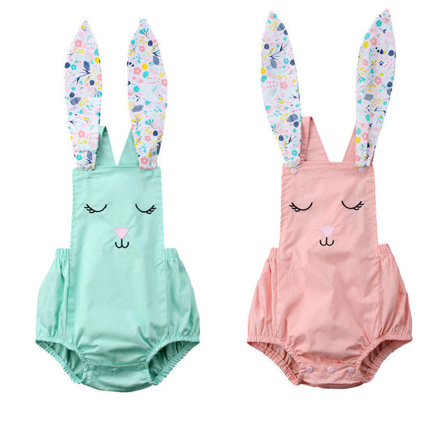 72a363a660d Newborn Baby Girl Boy Rabbit Romper Cosutme Cute Jumpsuit Outfit Clothes  Summer Sleeveless Girl Clothing