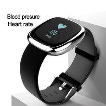 La Presión arterial Inteligente Banda Gimnasio Rastreador Podómetro Sleep Monitor de Ritmo Cardíaco Reloj Pulsera para IOS Andriod iPhone 7 Meizu