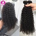 Mink Brazilian Kinky Curly Virgin Hair 4 Bundles Virgin Brazilian Deep Curly Hair And Soft Human Brazilian Hair Weave Bundles