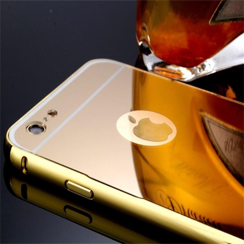 Xinchentech Untuk iphone 6/6 S Plus Kasus Mewah Cermin Logam + Hard - Aksesori dan suku cadang ponsel - Foto 4